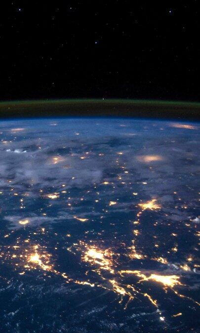 View-Of-Earth-From-Space-At-Night